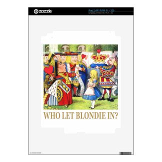 Who Let Blondie In? Skins For The iPad 2