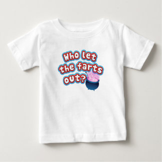 Who let the farts out? Funny Baby Shirt