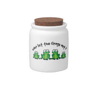 Who Let The Frogs Out? Candy Jar