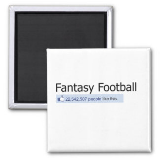 Who Likes Fantasy Football? 2 Inch Square Magnet