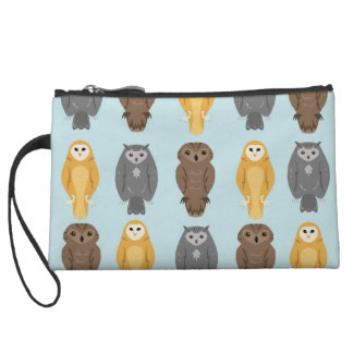 """Who Likes Owls?"" Owl Pattern Wristlet Wallet"