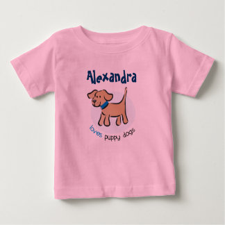 Who loves puppies? tee shirt