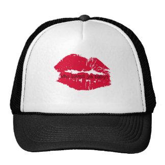 Who loves ya baby Hot Lips Print Trucker Hat