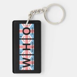 Who Made of Elements Rectangle Keychain (double-sided)