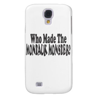 Who Made The Montauk Monster? - Two Lines Samsung Galaxy S4 Cover