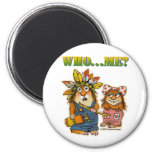 Who Me? 2 Inch Round Magnet