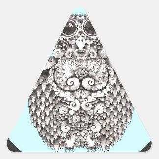 WHO ME - BY LARISSA - ORIGINAL LOGO1.jpg Triangle Sticker