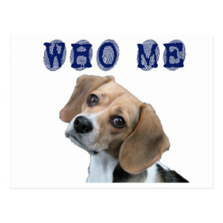 Who Me dog fingerprint Postcard