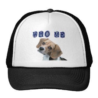 Who Me dog fingerprint Trucker Hat