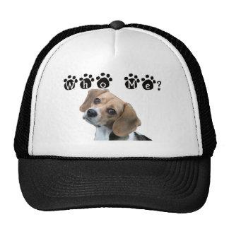Who me dog paw print trucker hat