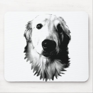 Who Me? Funny Dog Expressions. Golden Retriever Mousepads
