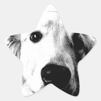 Who Me? Funny Dog Expressions. Golden Retriever Sticker