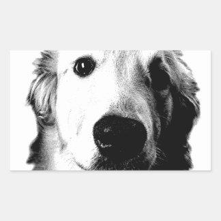 Who Me? Funny Dog Expressions. Golden Retriever Rectangular Sticker