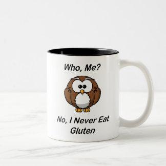 Who, Me?  No, I Never Eat Gluten Two-Tone Coffee Mug