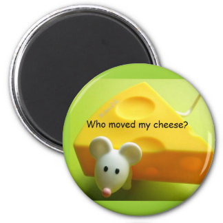 Who moved my cheese? 2 inch round magnet