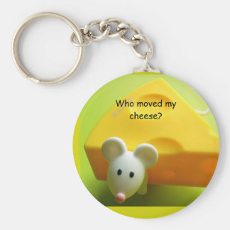 Who moved my cheese? key chain