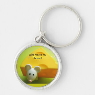 Who moved my cheese? Premium Round Keychains