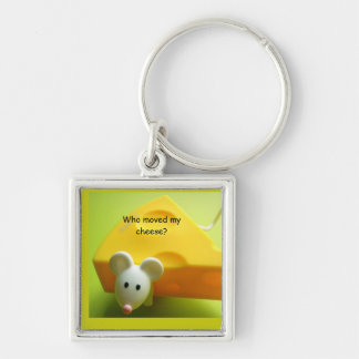 Who moved my cheese? Premium Square Key Chains