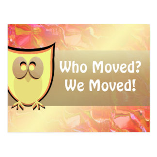 Who Moved? Postcard