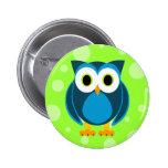 Who? Mr. Owl Cartoon 2 Inch Round Button