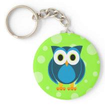 Who? Mr. Owl Cartoon Keychain