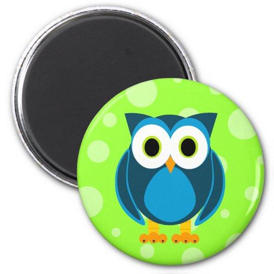Who? Mr. Owl Cartoon Magnet