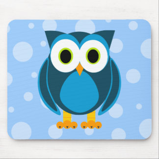 Who? Mr. Owl Cartoon Mouse Pads