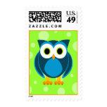 Who? Mr. Owl Cartoon Postage Stamp