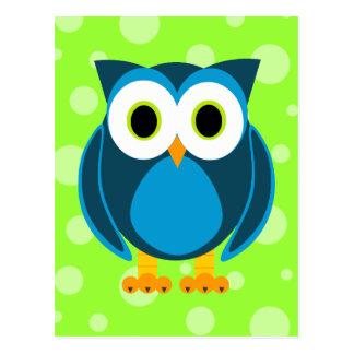Who? Mr. Owl Cartoon Postcard