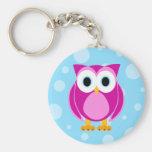 Who? Mrs. Owl Cartoon Keychains