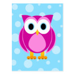 Who? Mrs. Owl Cartoon Post Card