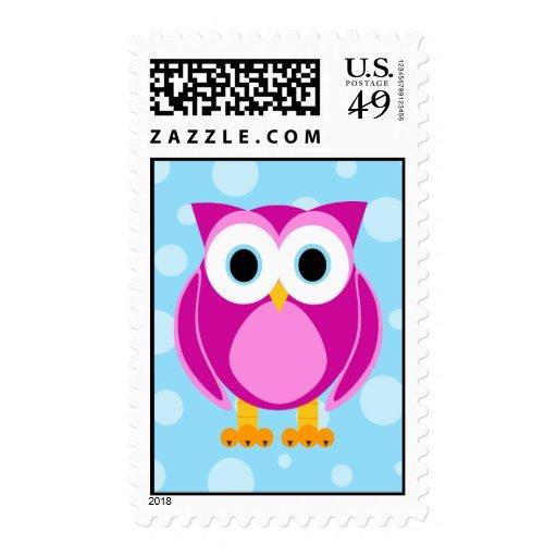 Who? Mrs. Owl Cartoon Postage Stamp