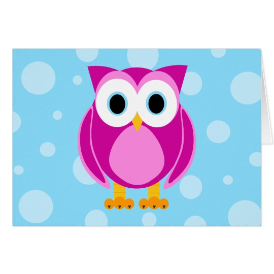 Who? Mrs. Owl Cartoon Thank You Card