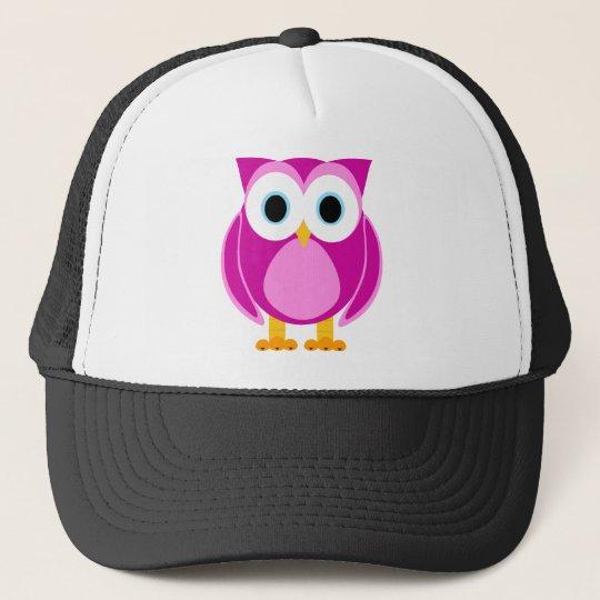 Who? Mrs. Owl Cartoon Trucker Hat