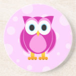 Who? Mrs. Pink Owl Coaster