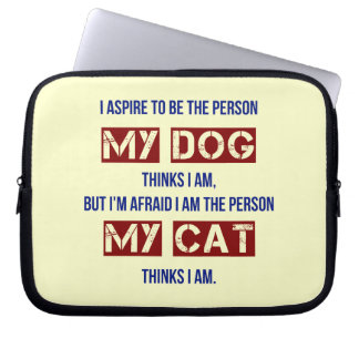 Who My Dog Thinks I Am Laptop Sleeve