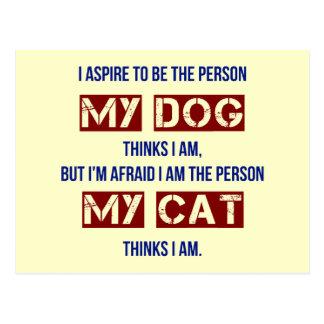 Who My Dog Thinks I Am Postcard