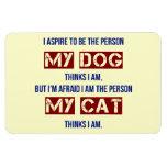 Who My Dog Thinks I Am Rectangle Magnet