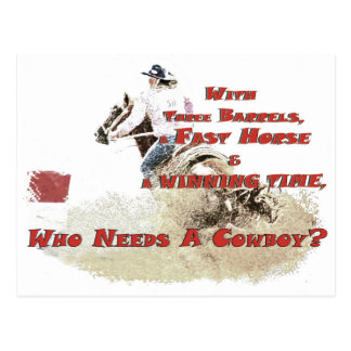 who needs a cowboy post card