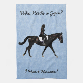 Who Needs a Gym? Fun Horse Hand Towel