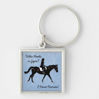 Who Needs a Gym? Fun Horse Keychain