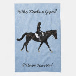Who Needs a Gym? Fun Horse Towels