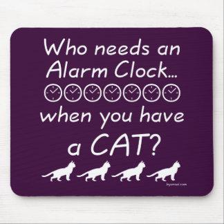 Who needs an alarms clock... mouse pads