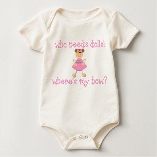 Who Needs Dolls? Baby Bodysuit