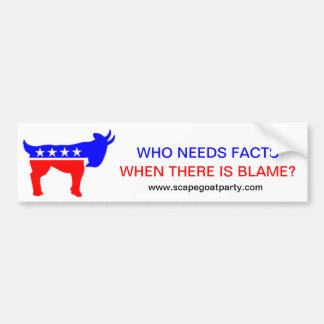 Who Needs Facts Bumper Sticker