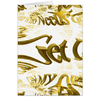 Who Needs GPS MAP FRACTAL TRACE Greeting Card