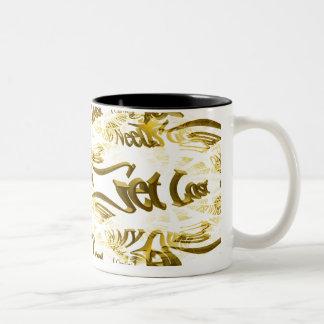 Who Needs GPS MAP FRACTAL TRACE Two-Tone Coffee Mug