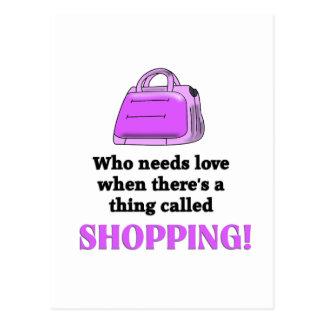 Who needs Love Funny Design Postcard