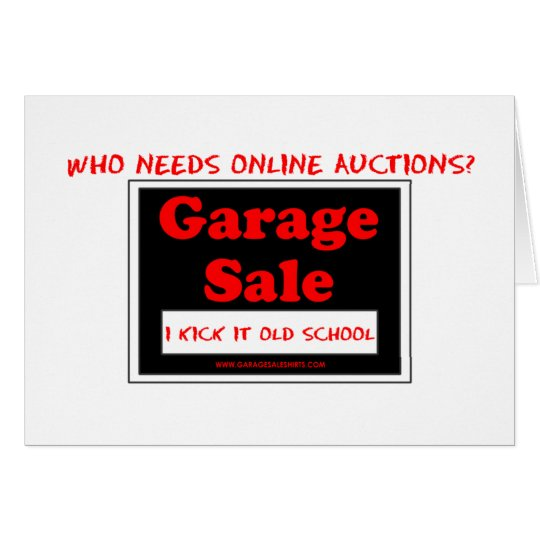 Who Needs Online Auctions T Card