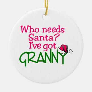Who Needs Santa Ceramic Ornament